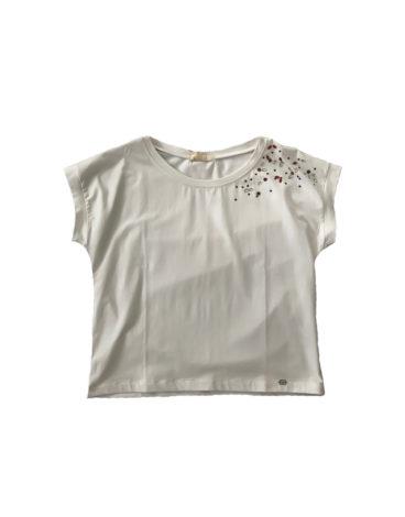 14.14.0.SC004 Camiseta blanca con brillantes de verano