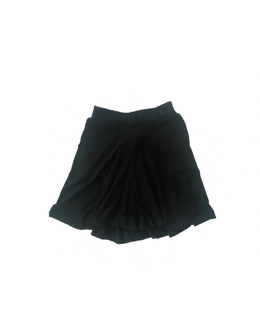 14.16.1.SC021 Short negro ancho fino fresco conjunto verano