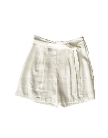 3.02.11.THA017 Short lino blanco verano pantalon corto lino blancos frescos elegantes