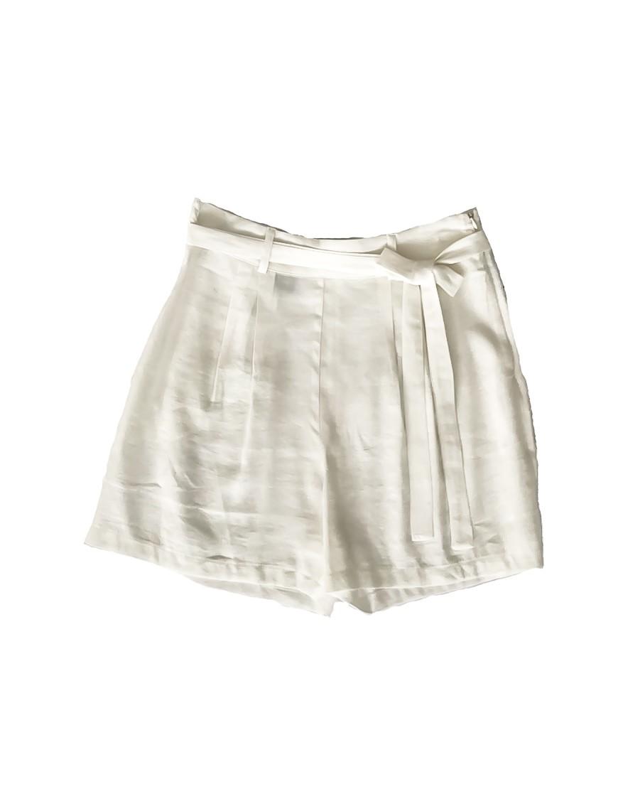 3.02.11.THA017 Short de linho branco de verão shorts de linho branco fresco elegante
