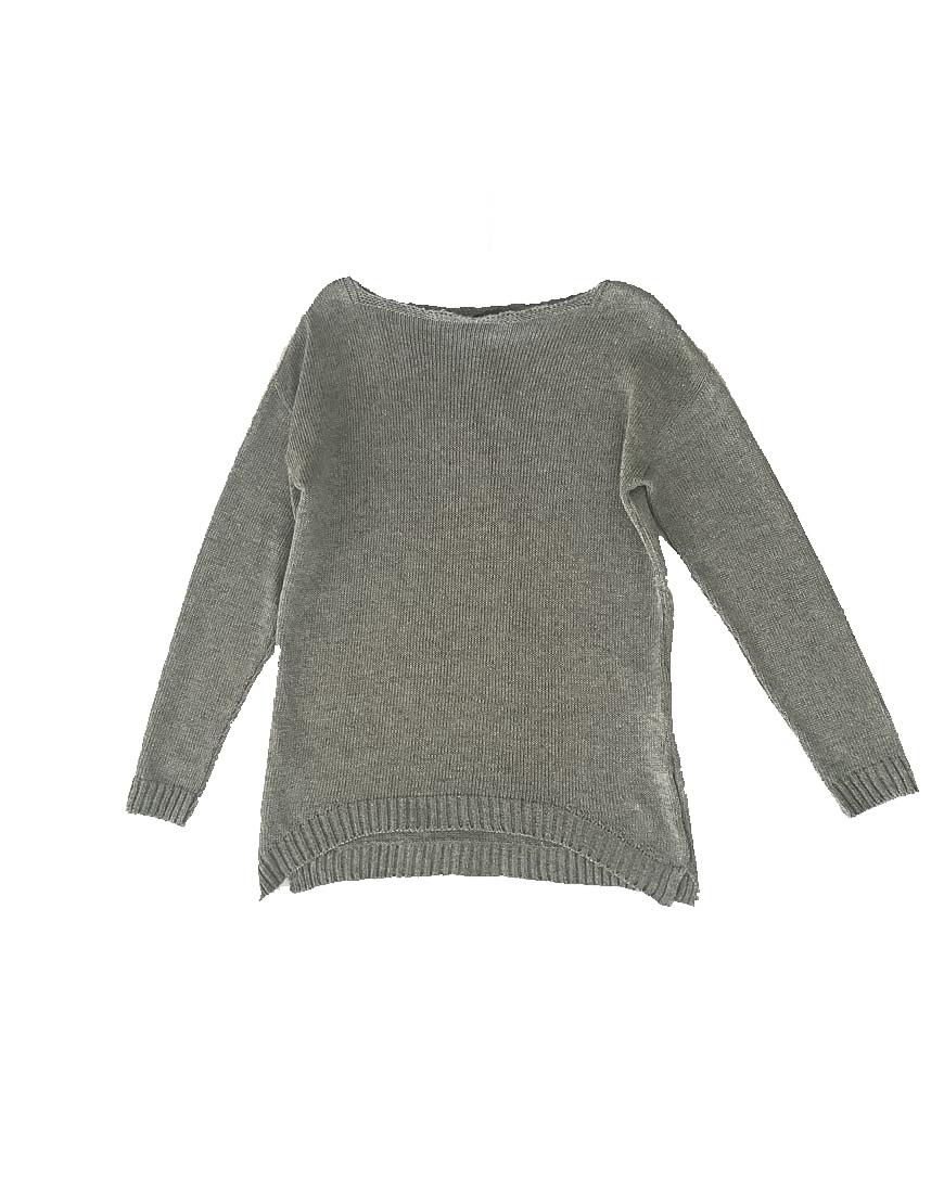 3.08.09.TH001 Jersey punto gris y plateado verano punto jersey brillante