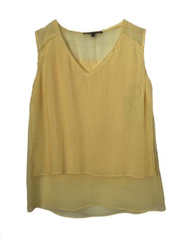 Blusa amarilla plisada