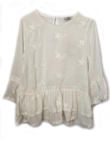 Blusa branca manga larga