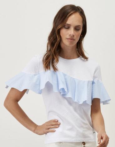 Camiseta blanca volante 1