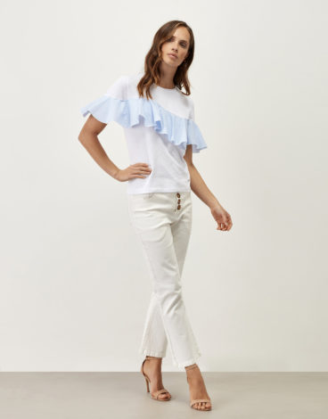 Camiseta blanca volante 2