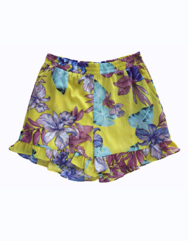 Short amarillo estampado