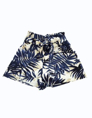 Short lino estampado