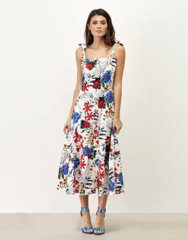 Vestido lino estampado 1