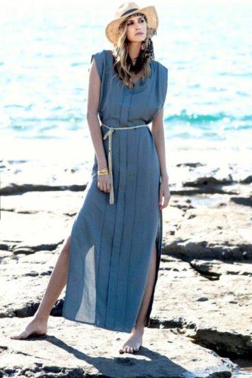 Vestido lino largo
