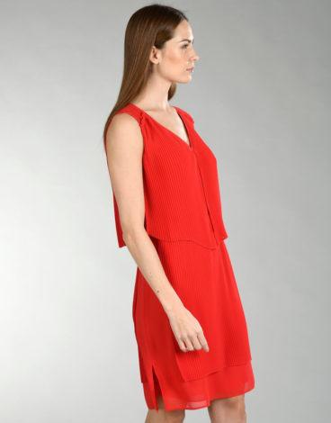 Vestido vermelho plisado2