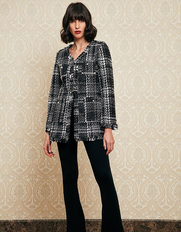 Chaqueta negra tweed INFLUENCER_BJ1831