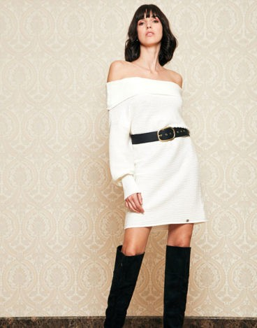Vestido blanco punto