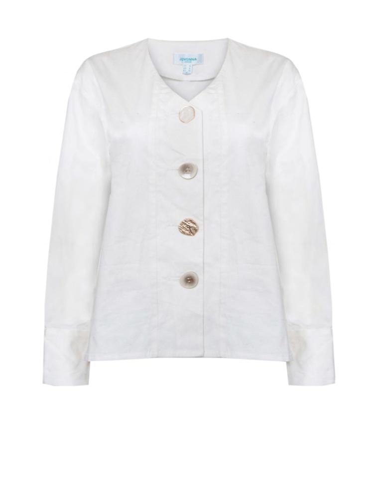 Blusa branca com botões JV012