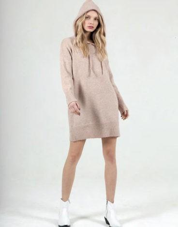 Vestido de Malha com Capuz JV008