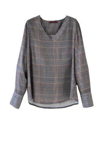 Blusa Xadrez Clássico com manga e punho
