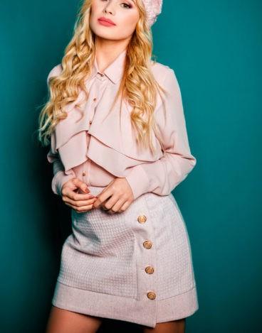 Falda-rosa-botones