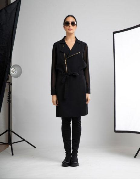 Vestido preto costas transparentes