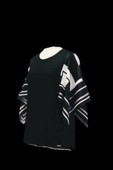 108M. 3019 (1) Tshirt de malha jersey com mangas de twill
