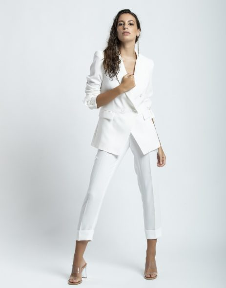 Pantalón blanco de vestir
