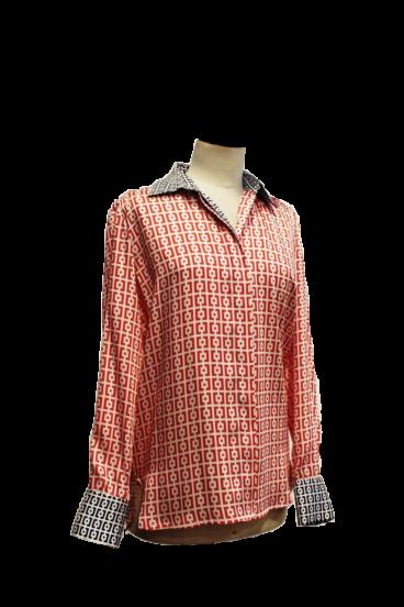 500.3008 (1) Camisa em twill estampado